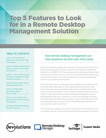 Top 5 Features to Look for in a Remote Desktop Management Solution